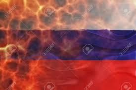 Flag Burning Legal Flag Of Russia National Country Symbol Illustration Wavy Burning