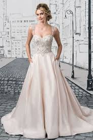 Chapel Train Wedding Dresses Wedding Dress Pale Pink Silver Sweetheart Corset A Line Chapel