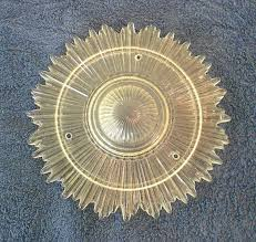 Vintage Ceiling Light Covers Sunburst Faceted Glass Ceiling Light Cover Fixture In X Sold Gallery