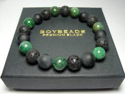 men bracelet bead images Edgar ernest boybeads green african jade sterling silver crowned