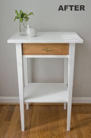 nightstand simple nightstands storage furniture ikea rast