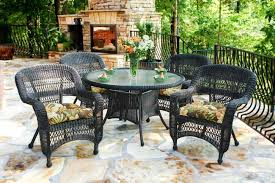 High Top Patio Dining Set Tortuga Outdoor Portside 5 Wicker Dining Set Wicker