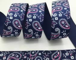 paisley ribbon blue paisley ribbon etsy