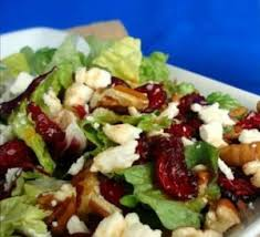 thanksgiving salad fresh baby lettuce dried cranberries pecans