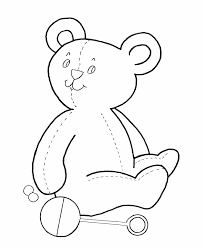 learning teddy bear coloring simple shape