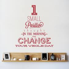 small positive thought wall decal quote