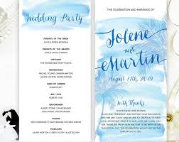 cheap ceremony programs destination wedding programs printed cheap programs for wedding