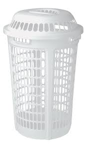 double laundry hamper with lid amazon com united solutions ln0009 white plastic two bushel