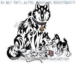 tribal wolf and pups by wildspiritwolf on deviantart