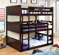 Therese Espresso Full Size Triple Bunk Bed W  Attached Ladders - Espresso bunk bed