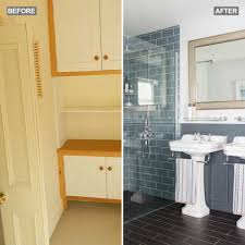 before and after a bathroom overhaul worth losing a spare room for