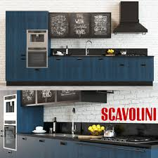 Scavolini Kitchen by 3d Model Scavolini Diesel Kitchen Blue Cgtrader