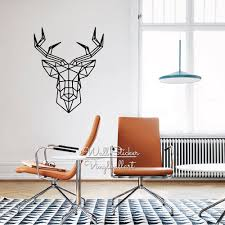 Home Decor Suppliers by Aliexpress Com Buy Geometric Deer Wall Sticker Modern Geometric