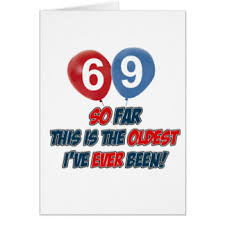 69th birthday card 69th birthday designs greeting cards zazzle