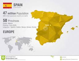 Spain On A Map by Spain On A Euro Map Royalty Free Stock Photo Image 18864285
