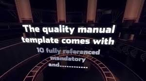quality manual template youtube