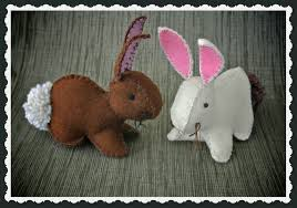 felt easter bunny template free easter bunny pattern