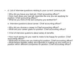 chief accountant chief accountant interview questions and answers