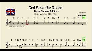 thanksgiving sheet music god save the queen easy sheet music with notes for violin flute