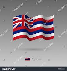 Hawaiian Flag Hawaiian Islands Flag Official Colors Proportion Stock Vector