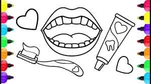 baby dental care coloring pages how to draw baby dental care and