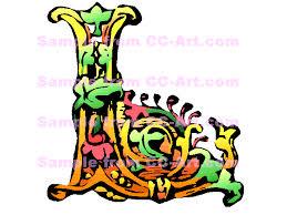 letters l decorative letter l