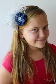 doctor headband doodlecraft tardis blue shabby chic bow