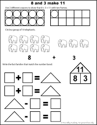 number bonds to 11 free math worksheets free math worksheets