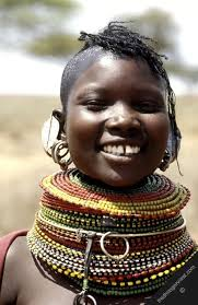 african women necklace images Africa kenya turkana smiling woman pastoralists rendille tribe jpg