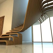 creative wood creative wood stairs 3d model cgtrader