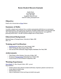 nursing student resume nursing student resume must contains relevant skills experience