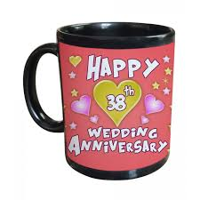 38th wedding anniversary 38th wedding anniversary gift printed coffee mug
