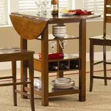 High Counter Table Round Drop Leaf Dining Table Outofhome