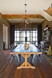 Industrial Dining Room by Rustic Country Farmhouse With Industrial Elements Melanie