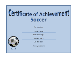 soccer award certificate templates free best and professional