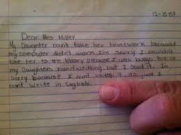 how to write a letter for a child who was absent from