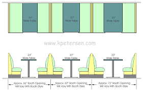 Built In Bench Seat Dimensions Upholstered Restaurant Booth Layouts And Typical Booth Dimensions