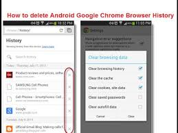 clear cookies android how to delete android chrome browser history