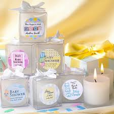 personalized baby shower favors baby shower frosted votive candle personalized favors