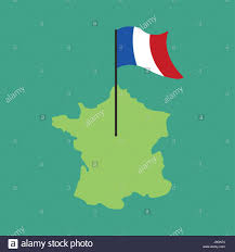 French Flag Banner France Map And Flag French Banner And Land Area State Patriotic