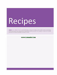 free recipe cookbook for microsoft publisher templates for