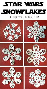 star wars snowflakes the joys of boys