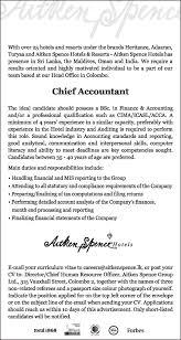 chief accountant chief accountant job street lanka