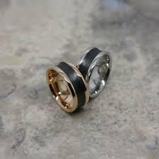 furrer jacot furrer jacot ring with carbon fibre markadam jewellery