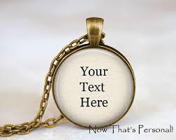 Personalized Photo Jewelry Custom Word Jewelry Etsy