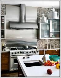 Stainless Steel Backsplashes For Kitchens Stainless Steel Kitchen Backsplash Panels Intended For Sheet