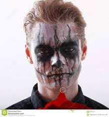 Mens Halloween Makeup by Man Makeup Halloween Stock Photo Image 61975266