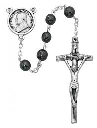 hematite rosary pope paul ii hematite rosary 6mm from catholic faith store