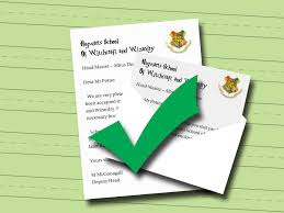 How To Fold Envelope How To Write A Harry Potter Acceptance Letter 6 Steps