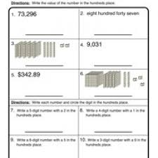 hundreds place place value worksheet 3